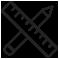 icoon potlood en meetlat