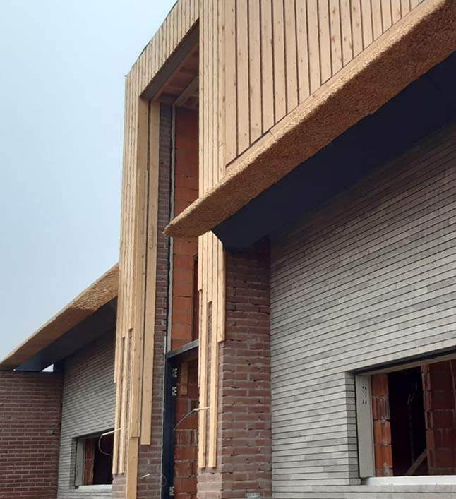 detail nieuwbouw huis